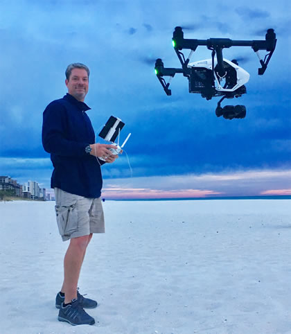 shane with drone